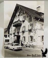 Vintage Street Scene Europe Gasthof Kofe Lowenbrau Ladies Bench Bicycle Chateau