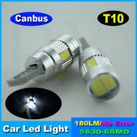 1 x SUPER WHITE HID PARK PLATE LED DASH T10 194 168 W5W Canbus Light Bulb globe
