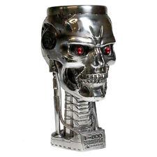 Terminator 2 Head Goblet, T-800 silver skull ornament by Nemesis Now B1456D5