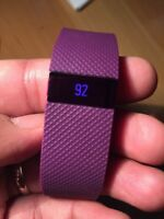 Fitbit Charge HR Wireless Heart Rate + Activity Wristband - *Large* Purple
