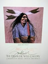 Authentic Frank Howell Artwork - Lakota Shirt Wearer 1992