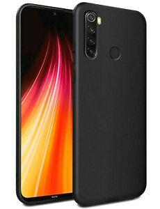 Cover For Xiaomi Redmi Note 8T Case Matte Black Slim TPU + Tempered Glass