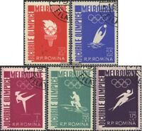 Rumänien 1598-1602 (kompl.Ausg.) gestempelt 1956 16. Olympische Sommerspiele