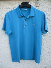 Polo LACOSTE Devanlay bleu coton jersey manches courtes 2