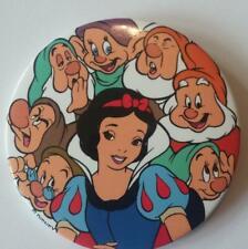 "Walt Disney Snow White And The Seven 7 Dwarfs Pinback Button 3"""