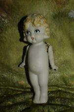 Antique Primitive Bisque Ceramic Frozen Jointed Charlotte Dolls Japan 7�