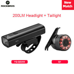 RockBros Bicycle Light Head Light + Rear Light Water Resistant Bright