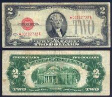 USA 2 Dollars 1928 D Red Seal Star Fine P 378 d