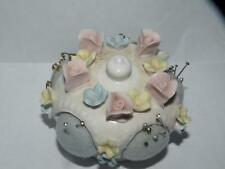 ARDALT JAPAN PORCELAIN PIN CUSHION with applied flowers