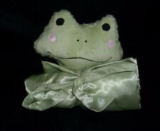 SWANKIE BLANKIE GREEN BABY FROG SECURITY BLANKET SOFT STUFFED ANIMAL PLUSH TOY