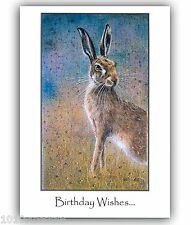 Hare Birthday Greetings Large Card From Original Painting by Suzanne Le Good
