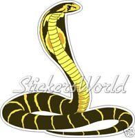 "COBRA Snake Kingcobra Vinyl Bumper Sticker  Decal 140mm (5,5"")"