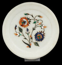 Indien 20. Jh Marmor Teller -An Indian 'Agra' Pietra Dura Marble Plate - En Inde