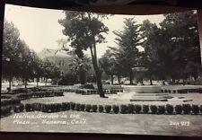 RPPC California CA Sonoma Italian Garden In Plaza Bell Tower Fountain 1930s