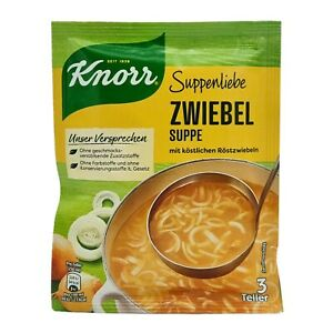 8x Knorr Suppenliebe 🍲 Zwiebel Suppe onion soup ✈TRACKED SHIPPING