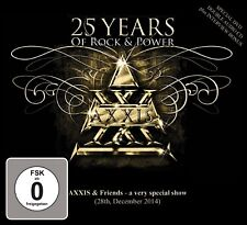 AXXIS - 25 YEARS OF ROCK AND POWER 2 CD + DVD NEUF