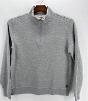 "Brooks Brothers Men's 1/4 Zip Fleece Knit Sweater  Gray SIZE XL NWOT 48"" Chest"