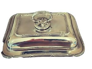 Beautiful Walker And Hall Serving Dish - Bead Pattern - Detachable Handle