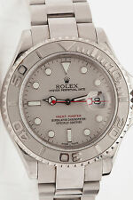 Estate Full Size Mens Platinum SS ROLEX Yachtmaster & BOX MINTY