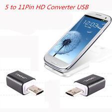 Hot Micro USB HDTV MHL HDMI Adapter 5 to11 Pin Converter fr Samsung S3 i9300 ijk