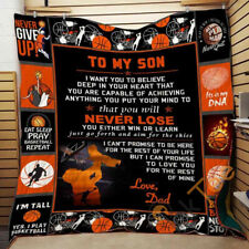 TO MY SON – NEVER LOSE Fleece Blanket Printing in US
