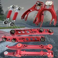 1993-1997 Honda Del Sol Aluminum Front Rear Lower Control Arm Camber Kit Red