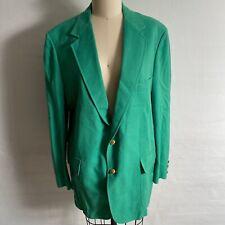 Vintage Green Lilly Pulitzer Lion Print Jacket Blazer Mens XL SEE MEASUREMENTS