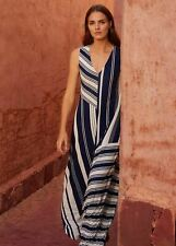Phase Eight Shania Stripe Maxi Maxi Dress Navy/Ivory Size UK10 RRP89