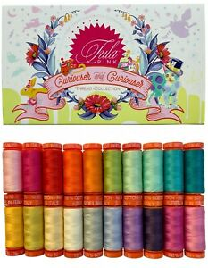 Aurifil Thread 50 wt Cotton 20 small spools Curiouser and Curiouser by Tula Pink