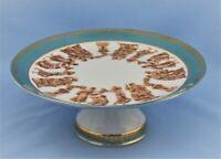 VINTAGE ARNART ROMAN FESTIVAL PORCELAIN FOOTED COMPOTE CAKE STAND