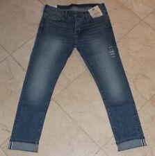 Abercrombie&Fitch Selvedge Denim Men's Slim Straight Stretch Jeans NEW 32x32