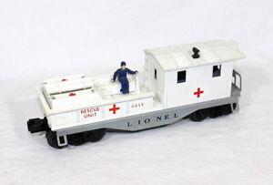 Scarce Postwar Lionel 6814 First Aid Medical Caboose~Mint Unrun!