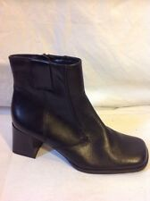 Caravelle Flex Black Ankle Leather Boots Size 36