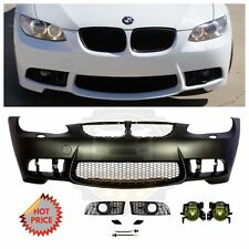 2007-09 BMW E92 M3 STYLE PP FRONT BUMPER W/ AMBER YELLOW FOG LIGHTS & CONNECTORS
