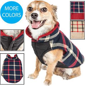 Pet Life 'Allegiance' Classical Plad Fashion Insulated Pet Dog Coat Jacket