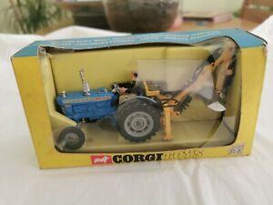 Vintage Corgi #72 Ford 5000 Super Major Tractor  In Original Box