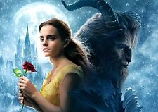 Beauty and the Beast A4 260gsm Poster 2017 New Movie Emma Watson Belle