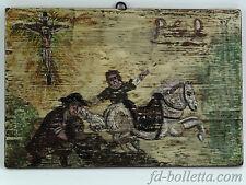 Ex voto legno,riproduzione quadro ex voto su tavola pitturato a tempera a371