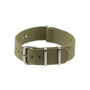 18~22mm Unisex Army Military Nylon Wrist Watch Band Strap Stainless Steel Buckle