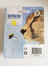 Original Epson T0714 TO714 Yellow Cheetah Printer Inkjet Cartridge