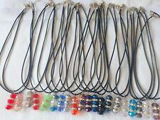 Joblot 40 pcs Mixed color Crystal Beads 40 cm  Necklaces  - New wholesale