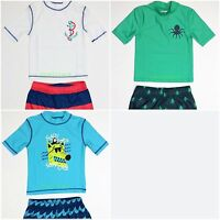 New Boy's Swim Rashguard Board Short Trunks Shirt Set NWOT XS 4 5 S 6 7