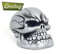 Custom Gearstick Chrome JAW Evil Skull Resin Gear Knob Stick Metal Look Shifter