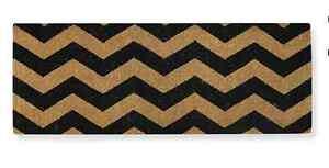 Chevron Coir Doormat  - 45 cm x 120 cm - extra long