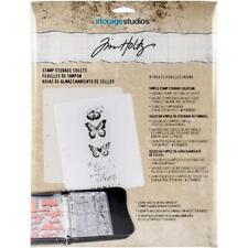 Tim Holtz Storage Studios Stamp Binder Refills - 8 Sleeves
