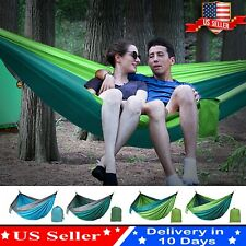 Outdoor Portable Camping Hammock Swing Bed Double Hanging Sleep 2 Person Travel