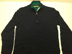 NWT Men's Prince & Fox Long Sleece 1/4 Zip Shirt Large M Navy