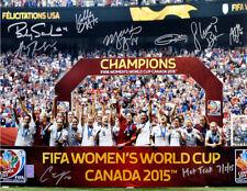 2015 World Cup Team USA Soccer Signed 16x20 photo (8-sigs) Carli Lloyd - TRISTAR