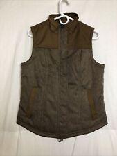 Overland Brown Herringbone Polyester Vest Size S