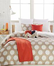 $335 Nip Lacoste 3p King Duvet Sham Set Kazan Cobblestone Comforter cover Beige
